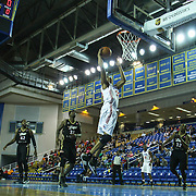 Delaware 87ers Forward JR Inman (33) drives towards the basket in the first half of a NBA D-league regular season basketball game between Delaware 87ers (76ers) and the Erie BayHawks (Knicks) Friday, Jan. 3, 2014 at The Bob Carpenter Sports Convocation Center, Newark, DE