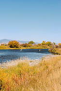Madison River, fly fishermen, south of Ennis, Montana