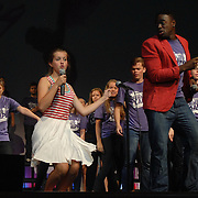 June 6, 2013  -  The Young Americans and summer camp students perform during the final day of the 2013 camp in Harbor Springs.