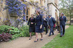 APR 29 2014 Queen Sofia of Spain visits Exeter College