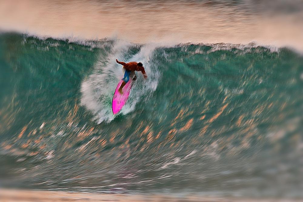 surf,pink,surfboard,take-off,surf photos,hawaii.