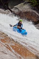"""""""Kayaker on Silver Creek 1"""" - This kayaker was photographed on Silver Creek - South Fork, near Icehouse Reservoir, CA."""