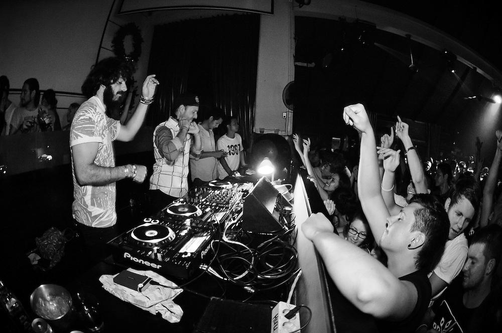 Bag Raiders at Hu'u Bar, Seminyak, Bali, Indonesia, 04/01/2013.