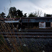 The old train station in Orestiada was burnt down by illegal immigrants after using it as a shelter until they were processed and sent to Athens.  Image © Angelos Giotopoulos/Falcon Photo Agency