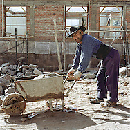 Worker from Argentina in Purmamarca, Argentina..Photos Amaya Roman