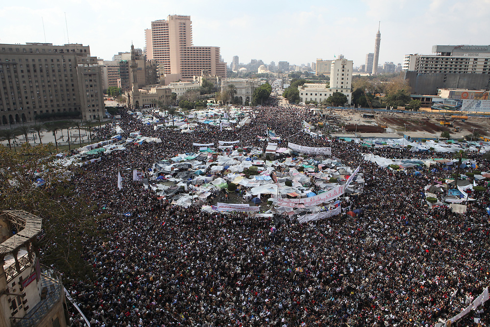 Tahrir Square on the morning of 11 February 2011.