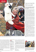The arctic fox is one of the most endangered species in Norway. Reportage about a project that is trying to save the polar fox. In the newspaper Nationen.