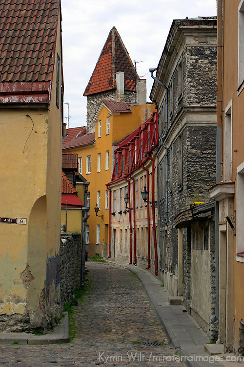 Europe, Estonia, Tallinn. An old street of Toompea, the historic center of Tallinn.