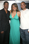 l to r: Nate Parker, Stephanie Frederic and Quincy Jones III (QD3) at the Lincoln Presents ' Off the Red Carpet ' at The 2008 American Black Film Festival at The Sofitel Hotel on August 9, 2008..' Off the Red Carpet ' celebrates the film careers of Hollywood insiders and soon to be released films by Black Filmmakers.