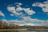 Crazy Mountains, Yellowstone River, between Livingston and Big Timber, Montana, spring