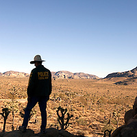 Undercover federal agent in Joshua Tree National Park.