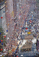 """Operation Welcome Home"" parade for the troops that served in Operation Desert Storm in 1991, Iraq Gulf War, Broadway Avenue, Manhattan, New York City, NY, USA"
