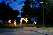 Independence Day festivities and sparklers in Eastlake, Ohio on July 4, 2006.