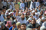 Salafi groups gather in Tahrir Square advocating the implementation of Sharia or Islamic Law during Friday protests on November 09, 2012 in downtown Cairo, Egypt. Ann Hermes/© The Christian Science Monitor 2012
