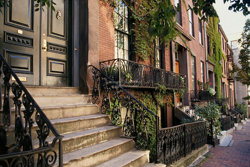 Massachusetts Boston Beacon Hill Hancock Street