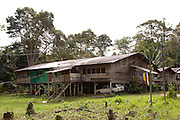 "Iban longhouse buit 1960's housing 40 people in 4 families, Amo ""A"", Temburong, Brunei"
