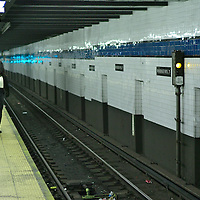 New York Subway. New York City.74th Street and Roosevelt station in Queens.