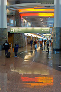 Inside the terminal at the Anchorage Airport
