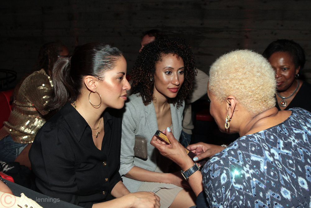 28 April 2011- New York,  NY-  l to r: Shannon Godfrey, Elaine Welteroth, and Audrey Smalltz at The Sparkling Celebration for the Birthday of Harriette Cole held at the Galapagos Art Space on April 27, 2011 in Brooklyn, NY Photo Credit: Terrence Jennings