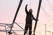 """British yachtsman Alex Thomson finishes 3rd in the solo non stop around the world yacht race """"The Vendee Globe"""". Les  Sables d Olonne. France...Pictures free for editorial use only please credit: Lloyd Images/DPPI"""