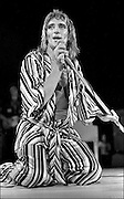 Rod Stewart performs at the Honolulu International Center Arena in 1975.  The Honolulu International Center (HIC) has now been re-named the Neil S. Blaisdell Arena.  .©PF Bentley/PFPIX.com