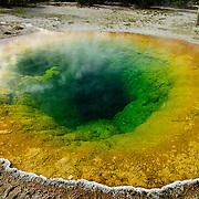 Morning Glory Pool, Old Faithful Geyser Basin, Yellowstone National Park, Wyoming.