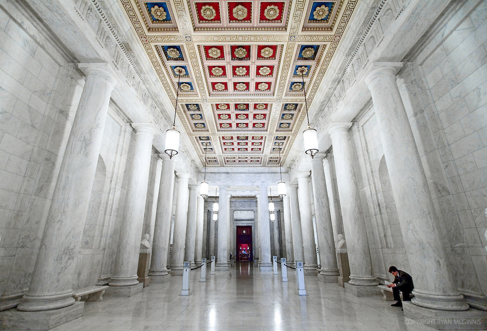 Interior of the United States Supreme Court, June 24, 2006.