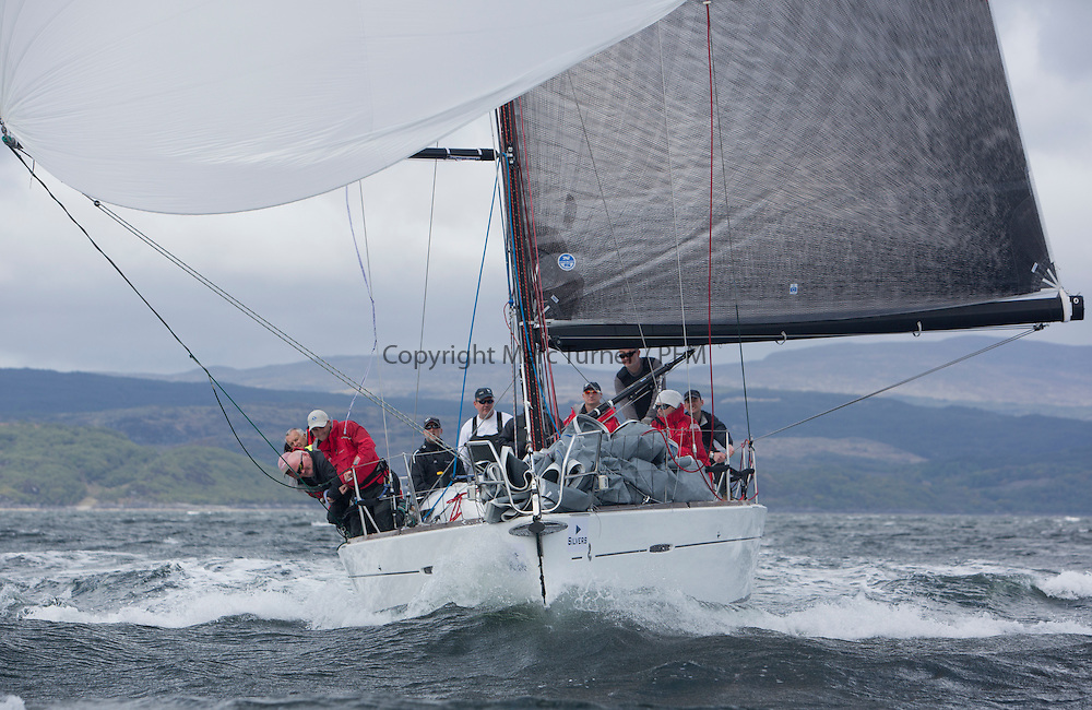 The third days racing at the  Silvers Marine Scottish Series 2015, organised by the  Clyde Cruising Club<br /> Based at Tarbert,  Loch Fyne from 22rd-24th May 2015<br /> <br /> GBR8140C ,Zephyr, S Cowie/ I Marshall, CCC/FYC/RGYC ,First 40<br /> <br /> <br /> Credit : Marc Turner / CCC<br /> For further information contact<br /> Iain Hurrel<br /> Mobile : 07766 116451<br /> Email : info@marine.blast.com<br /> <br /> For a full list of Silvers Marine Scottish Series sponsors visit http://www.clyde.org/scottish-series/sponsors/