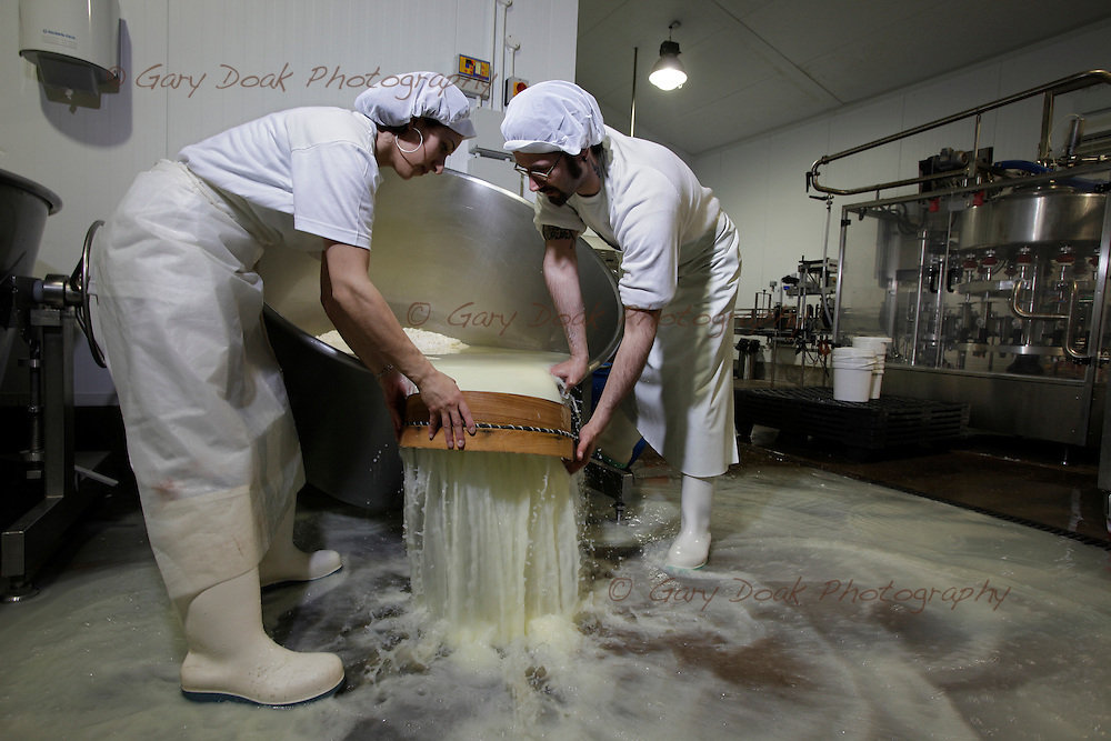 Gabriele Caputo and Adriana Alonzi, an Italian couple making Mozzarella cheese on a farm in East Lothian, supplying local shops and restaurants in Edinburgh.