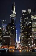 42nd Street at night. Manhattan.