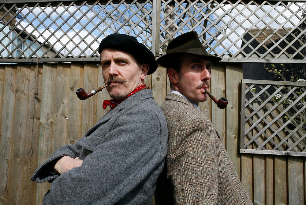 Billy Childish at home in Kent with Gustav Temple, editor and founder of The Chap Magazine