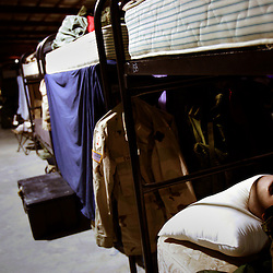 Iraq Spec. Jonathan Wagner, from the 724th Transportation Company, rests after deployment in Iraq, before going back to the United States, Kuwait, Feb. 7, 2005. A member of their unit, Army Spc. Keith Matt Maupin, was taken hostage. He is the only US soldier that is listed MIA from this war.