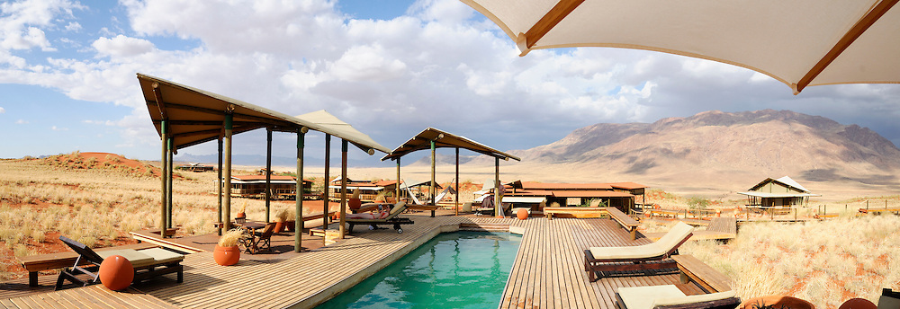 Pool, Dunes Lodge, Wolwedans Lodge, Namib Rand Nature Reserve, Hardap Region, Namibia.
