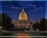 Capitol at Night, West Side,<br />