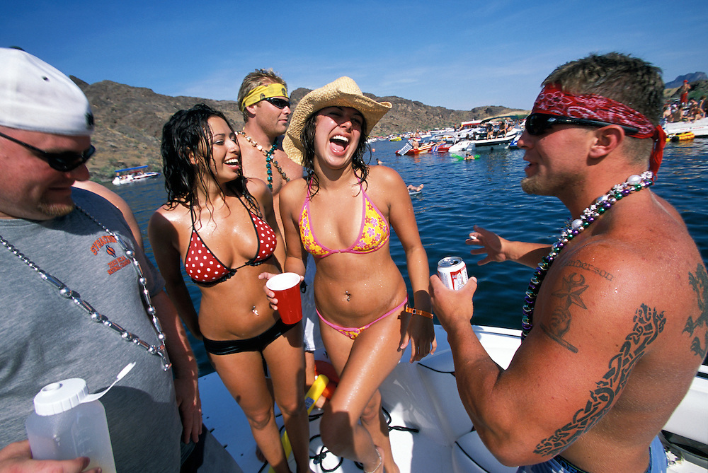 Partying is an art form as the summer is kicked off at Lake Havasu along the California/Nevada border.