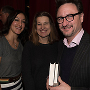 (l-r) Maria Venegas, Susan Gray and Michael Maher at the 'Still Waters in a Storm' benefit at The City Winery NYC. <br /> <br /> Still Waters in a Storm is a free school for children in the neighborhood of Bushwick, Brooklyn.Volunteers offer homework help and classes in reading, writing, violin, music composition, yoga and Latin, all free of charge to low-income families in the neighborhood.