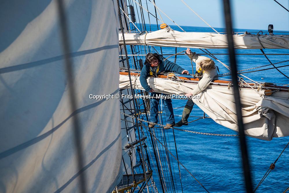 Antarctica, February 2016. Dutch Tallship, Bark Europa, explores Antarctica during a 25 day sailing expedition. Photo by Frits Meyst / MeystPhoto.com