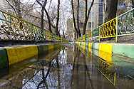 Reflection in Moscow backyard.