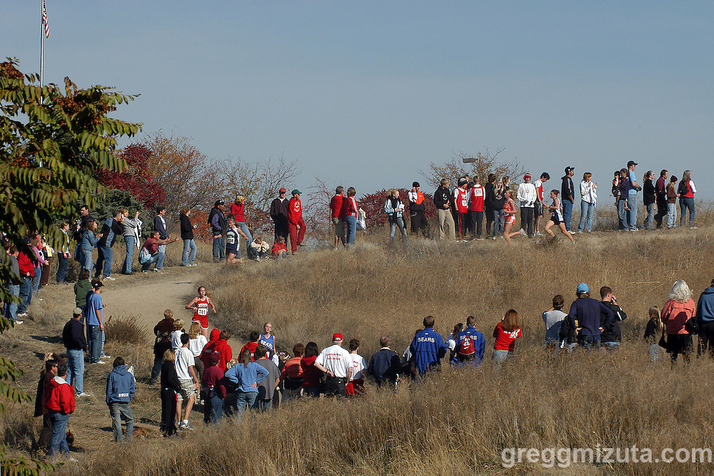 The 3A girls race during the Idaho High School Cross Country State Championships at Hells Gate State Park in Lewiston, Idaho on October 29, 2006.