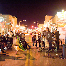 120813       Brian Leddy.The rock band SOXOL performs in downtown Gallup during the December ArtsCrawl.