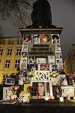 DEC 03 2014 Michael Jackson memorial at the Promenadeplatz