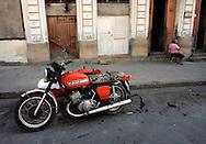 Motorcycle in Cienfuegos, Cuba.
