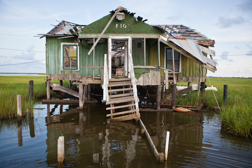 Isle de jean charles faces coastal erosion photo video for Louisiana fishing camps