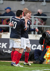 Falkirk's David Weatherston celebrates after scoring their third goal..Falkirk 4 v 1 Forfar Athletic, Scottish Cup fifth round tie, 2/2/2013. .©Michael Schofield.