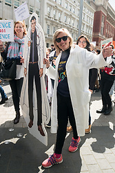 © Licensed to London News Pictures. 22/04/2017. London, UK. Scientists take part in the March For Science demonstration to raise awareness restoring science to what is considered to be its rightful place. Photo credit: Ray Tang/LNP