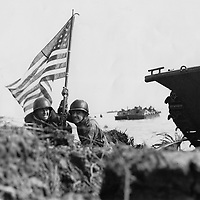 1944 - First flag flown on Guam was during invasion landing on a boat hook mast.