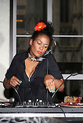 DJ Beverly Bond at The She-Blogs Launch Party sponsored by Belevedere Vodka and held at Saks Fifth Avenue on July 23, 2009 in New York City..Founded by Allyson Leakes, She-blogs.com is an empowerment blog geared to inspire women to reach fro their dreams and to help them realize that they can lead happy, balance and fulfiling lives