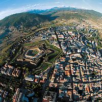 Aeriel view of Jaca and its ¨ciudadela¨
