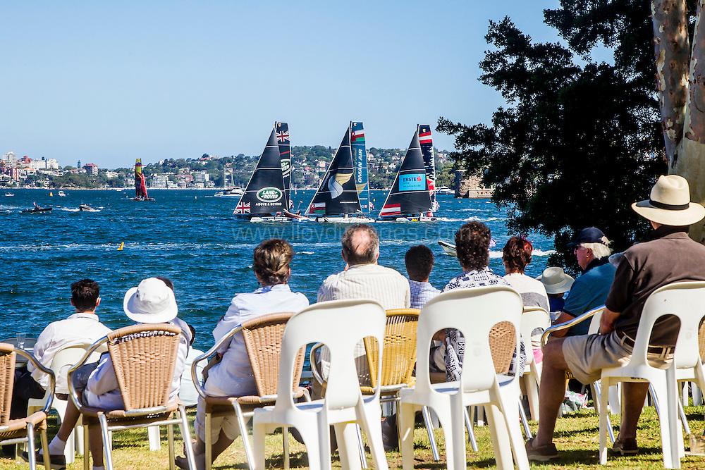 The Extreme sailing Series 2016. Act 8. Sydney. Australia . Day 2. Image licensed to Jesus Renedo/Lloyd Images