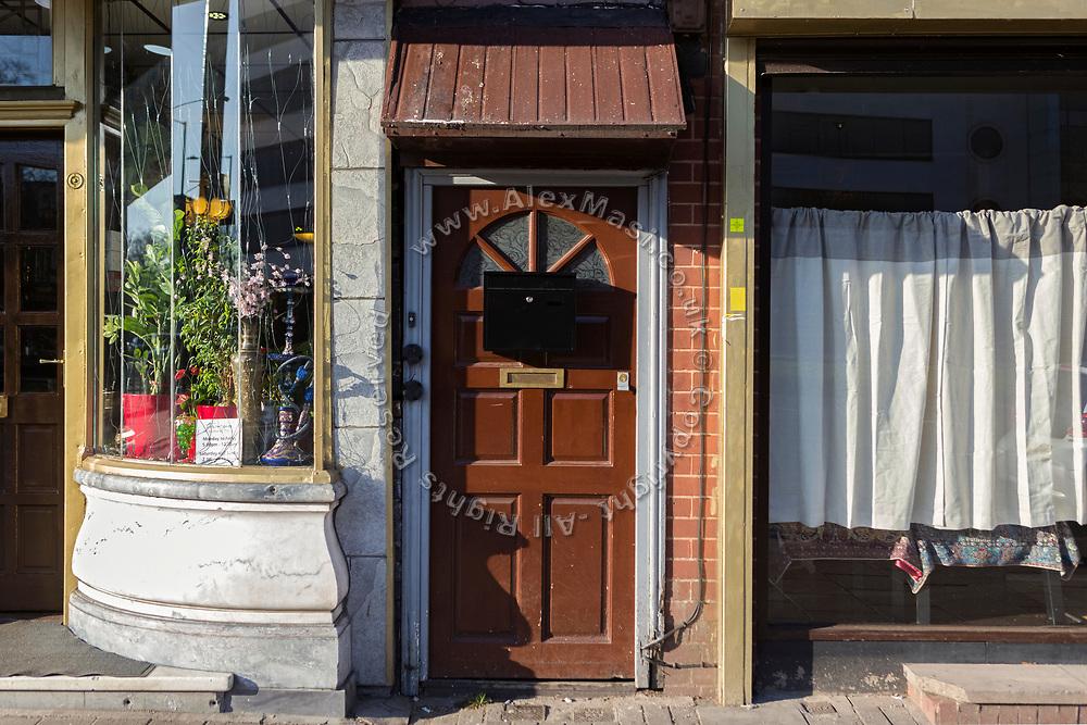 Khalid Masood, the terrorist behind the 2017 Westminster Bridge attack in London, lived behind this door on Hagley Road, Birmingham.